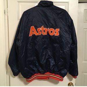 Houston Astros Men's Reversible Satin Jacket Sz 2X